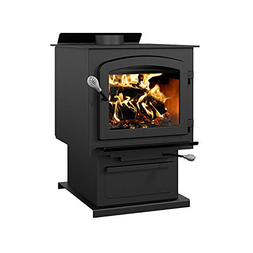 Drolet Myriad III with Blower Extra Large 2020 EPA Certified Wood Stove – 90,000 BTU – 2,300 sq. ft, Model# DB03052