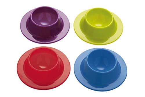 Colourworks Set di 4 Portauova, Silicone, Multicolore