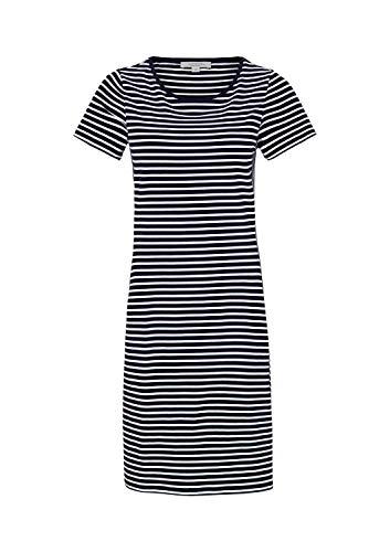 comma Casual Identity Damen Lässiges Etuikleid aus Jersey mit Streifenmuster Blue Stripes 34