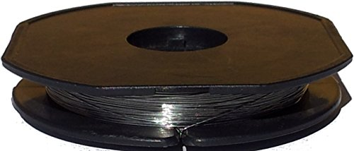"""25 Meter V2A Edelstahldraht Ø 0,40mm - AWG 26 (Grundpreis: EUR 0,31/m) Heizdraht - Widerstandsdraht - stainless steel wire 0.016"""""""