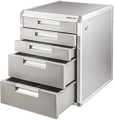 Gabinete de presentación, archivador de la revista Archivo de escritorio Archivo, Multifuncional 4/5 Capa Aleación de aluminio Archivo de aleación de archivos de almacenamiento / Suministros de oficin