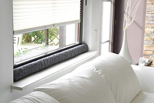 K. & N. Schurwolle 551 - Paraspifferi in lana vergine per finestre, 120 cm, colore: Antracite