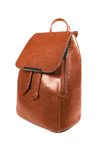 Backpack Womens | Vegan Leather Fashion Backpacks For Women or Ladies - Brown