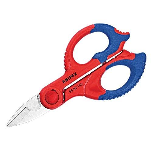 Knipex 95 05 155 SB Tijeras de Electricista, Multicolor, 15.5 cm