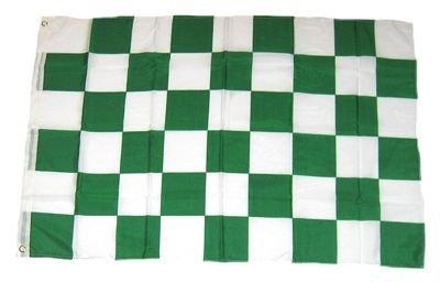 Fahne / Flagge Karo grün / weiß NEU 90 x 150 cm Flaggen