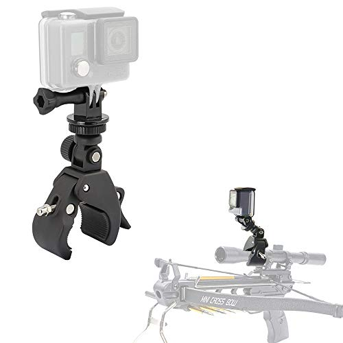 Kolasels Easy Installation Adjustable Crossbow Gun Scope Clamp Mount for Gopro Hero Session Fixation