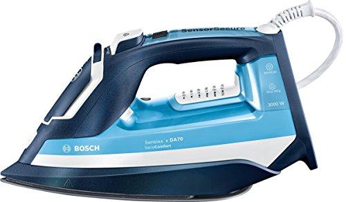 BOSCH PAE Sensixx'x DA70 Plancha (3000 W, 200 g de Vapor y Base de CeraniumGlissée), azul