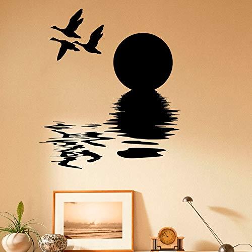 Paisaje Caza de pájaros Pegatinas de Pared Hobby Activo Cazador Naturaleza Diseño Sala de Estar Dormitorio Art Deco Pegatinas de Pared