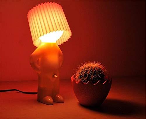 Metdek Lámpara de noche creativa para la decoración principal del dormitorio, lámpara de mesa, para fiestas, regalo (amarillo)