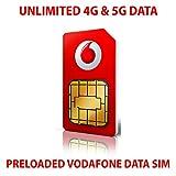Vodafone Data Sim Card precaricata con dati illimitati 4G e 5G. Valido per 30 giorni dal primo utilizzo