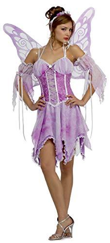 Rubie's Women's Sexy Butterfly Costume, Purple, Medium