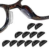 VITORIA (ヴィトリア) 眼鏡 メガネ 鼻パッド ノーズパッド ずれ落ち防止 【12セット 3M両面テープ】 (ブラック)