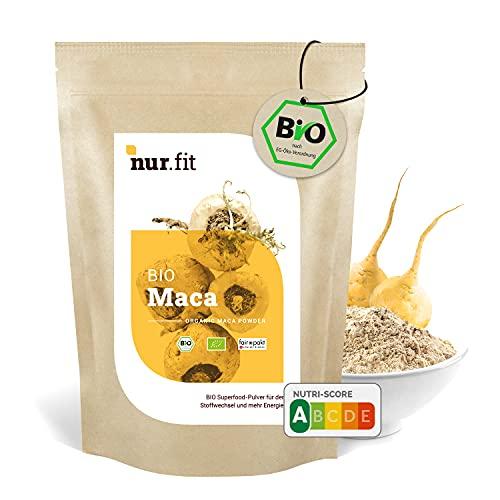 nur.fit BIO Maca Pulver 1kg – rein natürliches Maca-Pulver in Bioqualität – veganes Superfood mit Proteinen in Rohkostqualität – Fitness-Pulver ohne Zusätze