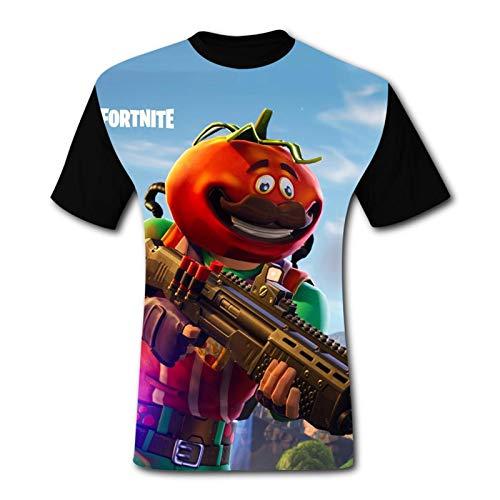 FTNT Tomatohead Herren-T-Shirt, bequem, 3D-Grafik, kurze Ärmel, modischer Pullover