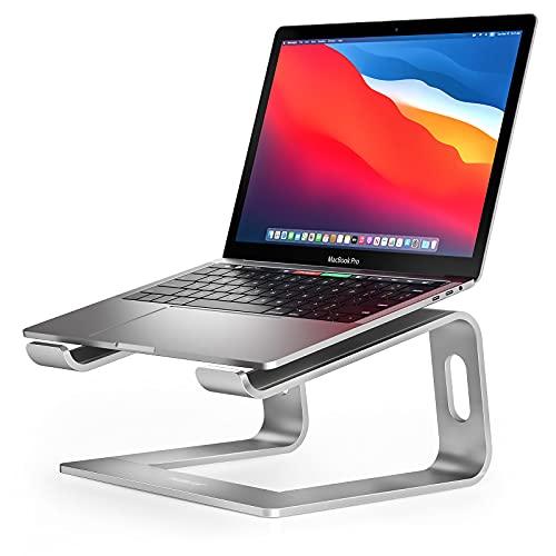 """Suporte para laptop Nulaxy, suporte ergonômico de alumínio para notebook, suporte destacável para notebook compatível com MacBook Air Pro, Dell XPS, HP, Lenovo More 10-15,6"""", B- Silver"""