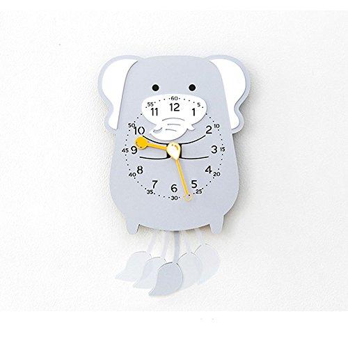 ZhoBinH- Mignon Cartoon Swing Horloge Murale Moderne Pendule Décorative Horloge Créative Animal Horloge Pendule Horloge (taille : Elephant)