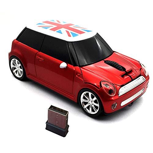 Kamouse Souris de sport sans fil en forme de voiture 3 boutons Souris optique ergonomique de jeu avec récepteur USB pour PC ordinateur portable Cadeau
