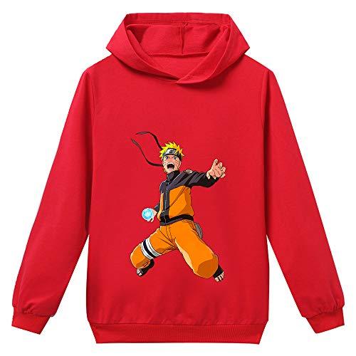 Naruto Pullover Enfants Anime Imprimé Hoodies Childs Garçons Filles Capuche Sweatshirts Student Casual Les garçons et Les Filles (Color : Red07, Size : Height-130cm(Tag 130))