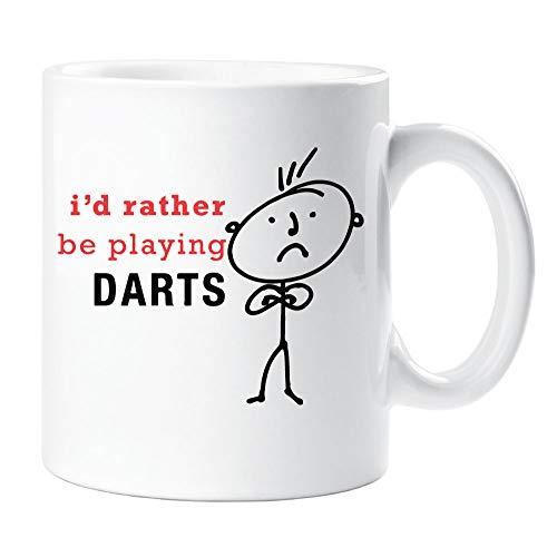 60 Tweede Makeover® Mens Ik zou liever Ik spelen Darts mok Cup Man Vriendje Oom cadeau