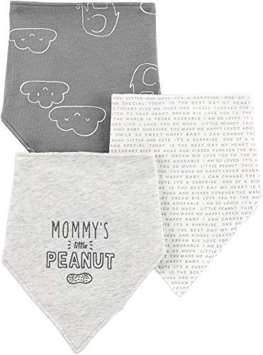 Carters Baby Unisex 3-pk. Little Peanut Bandana Bibs One Size Grey/White