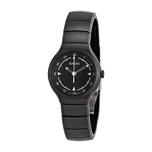 Rado Verdadero Jubile Negro Dial Negro Cerámica Damas Reloj r27678162