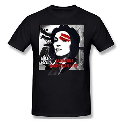 DeyAope Madonna American Life Sudadera Casual Sudadera con Capucha para Hombre con Cordón Black XL