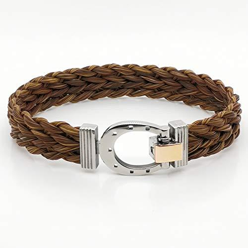 Albanu armband CRIN de Cheval tressé of Rose Acier collectie Equus