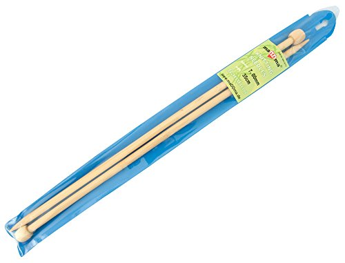 1 Paar Bambus-Stricknadeln Größe 7mm gerade 35cm Holz-Stricknadel kaufen Natur