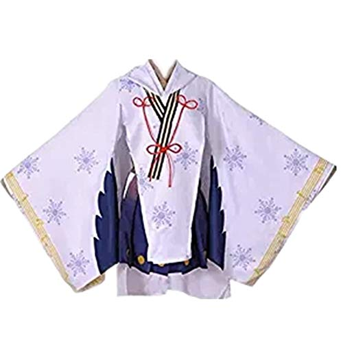 EChunchan Snow Hatsune Miku Cosplay Costumes Girls Kimono Yukata Dress Halloween Uniforms (Male L)
