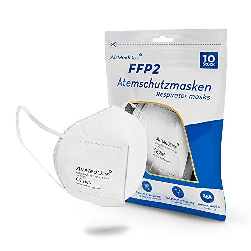 FFP2 Atemschutzmasken 10 Stück CE Zertifiziert 5-Lagen Atemmaske Mundschutz Maske 3D Gesichtsmaske
