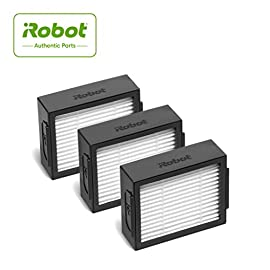 iRobot Authentic Replacement Parts- Roomba e and i Series High-Efficiency Filter, (3-Pack),White - 4639161 2 Replacement Filters High Efficiency Filter captures 99 percent of mold, pollen, dust mite, dog and cat allergens Replace your robot's filter to help maintain optimum cleaning performance