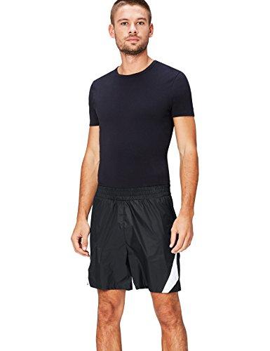 Activewear Pantalones Cortos de Deporte para Hombre, Negro (Black/White), Talla fabricante: L