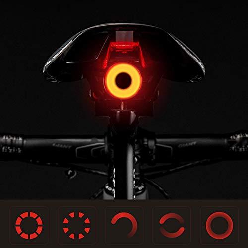 LZIWEI Luci Bicicletta LED Ricaricabili USB, Luce Bici Posteriore Luce Bici LED Sicurezza Stradale per Luci Notturne di Avvertimento