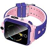 shjjyp Smartwatch Reloj Inteligente Nino Acuatico NiñOs con 1.44 Pantalla TáCtil Completa Lbs Localizador Linterna Llamada Sos CáMara Juegos Y Despertador Regalo para NiñO NiñA De 3-12 AñOs,Rosado