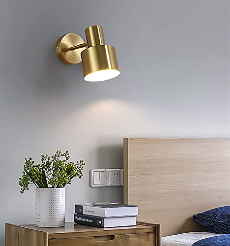 Lámpara de pared Lámpara de pared LED moderna 360 ° Lámparas de lectura ajustables Lámparas de pared de lectura de la cama E27 Luz de metal interior para escalera Sala de estar Dormitorio Corredor Cál