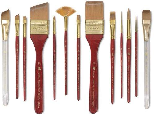 Princeton Heritage Synthetic Sable Brush 4050 Angle Shader 3/8in -  Princeton Brush, 4050AS037