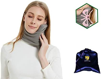 FOXSEON Travel Pillow and Multifunctional Scarf 3D Butterfly Neck Support Pillow for Airplane product image