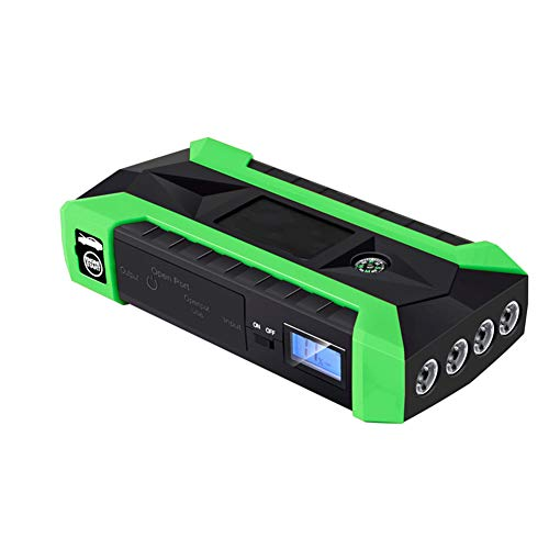 Z&LEI Cargador De Batería De Automóviles, 89800Mah Multifunción Start Start 4 USB 4 Luces LED, Adecuadas para Más Tipos De Baterías