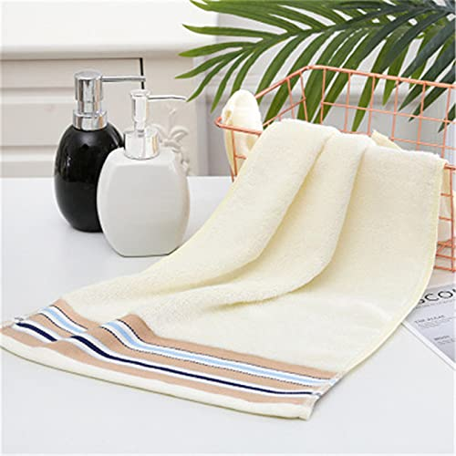 Juego de toallas de algodón egipcio 100% fibra de bambú adulto toalla conjunto 35*75 cm 2 toallas de mano baño sólido azul y blanco toalla toalla toalla de la cara