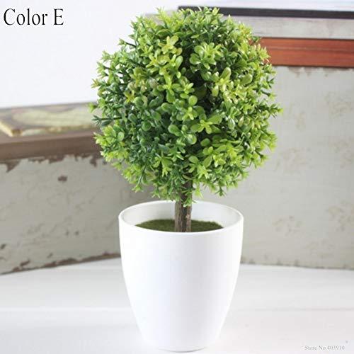 HYLZW Kunstbloem potplant 1 set mini gras kunstplant bal bonsai simulatie decoratieve kunstbloemen vervalste groene potplanten ornamenten wooncultuur