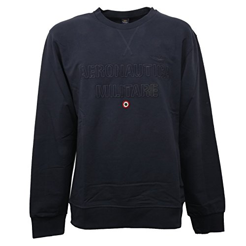 Aeronautica Militare C0988 Felpa uomo BLU Girocollo Sweatshirt Men