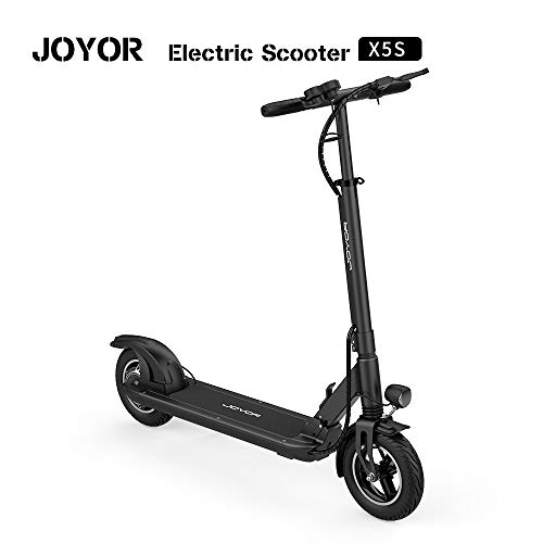 JOYOR X5S Electric Scooter - 500W Motor 10' Aire Tires Up to 40.3 Miles One-Step Fold, Ultra-Lightweight Adult Electric Foldable Scooter for Commute and Travel(Black)