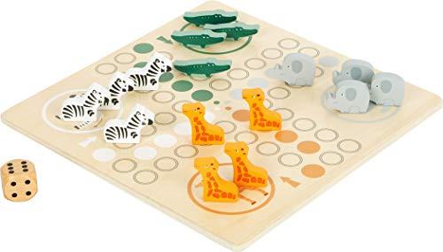 Small Foot 11697 Ludo Safari, aus FSC 100%-zertifiziertem Holz, Gesellschaftsspiel für die ganze Familie ab 4 Jahren