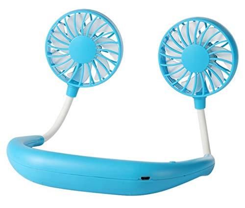 dnknkld - Ventilador para colgar (USB, para exterior, carga plegable, ventilador eléctrico, color azul
