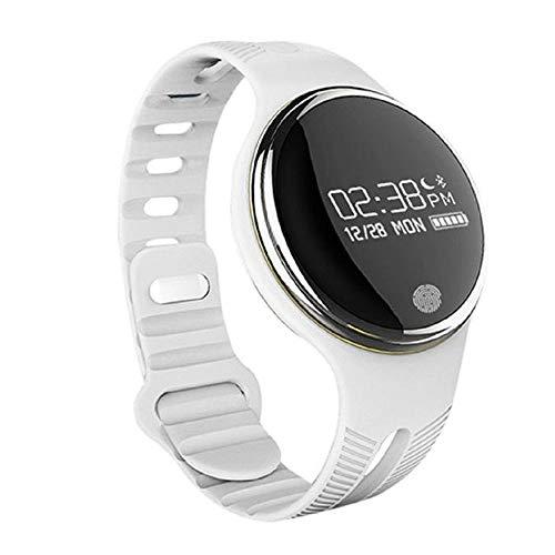 Montre-Bracelet Intelligente avec Rappel des mouvements des piétons et des Anneaux Blanche