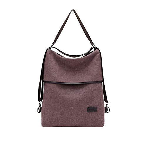 Women's Handbags Casual Multi-Purpose Canvas Backpack (Light Brown)