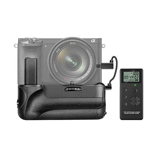 Neewer battery grip per fotocamera Sony A6500 fotocamera mirrorless telecomando verticale shooting funzione Built-in 2.4 GHz controllo wireless fino a 100m funziona con NP-FW50 batteria