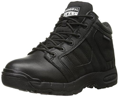 """Original S.W.A.T. Men's Metro Air 5"""" Waterproof Side-Zip Men's Black Military & Tactical Boot, Black, 4 D US"""