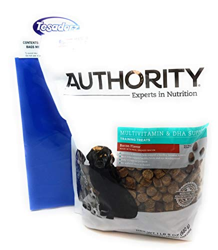 Authority Multivitamin and DHA Support Training Treats (Bacon) and Tesadorz Resealable Bags