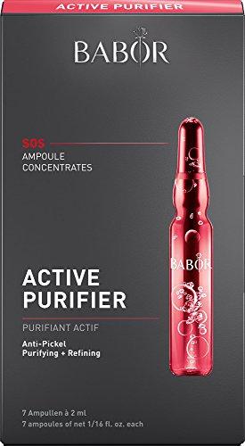 BABOR AMPOULE CONCENTRATES Active Purifier, Gesichtspflege für unreine Haut, mit Teebaumöl, wirkt poren-verfeinernd, antibakteriell, 7 x 2 ml